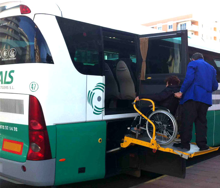 Wheelchair lift equipped buses